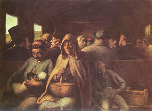 Imagen del vagón de tercera de Daumier