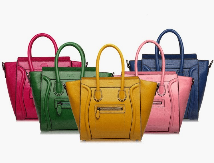 Candy-colored Leather Female Smiling face GufissTote Bag