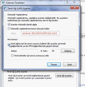 Google Chrome Proxy Ayarları Düzenleme