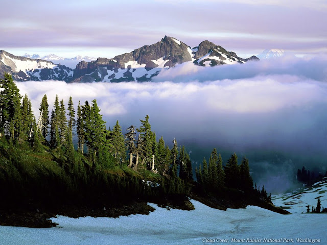 Cloud Cover, Mount Rainier national Park, Washington