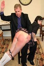 Ruthless Headmaster Spanks Naughty Coed Lorraine's Bare Ass Red At