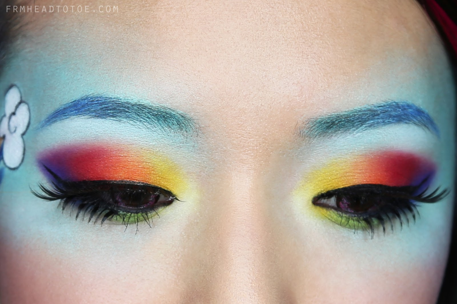 "My Little Ponies ""Rainbow Dash"" Makeup Tutorial"