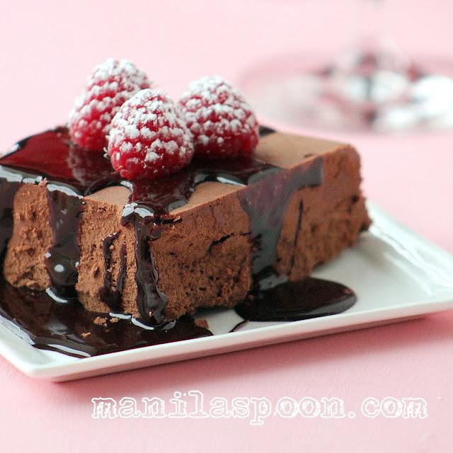 manila spoon chocolate marquise On chocolate marquise cake