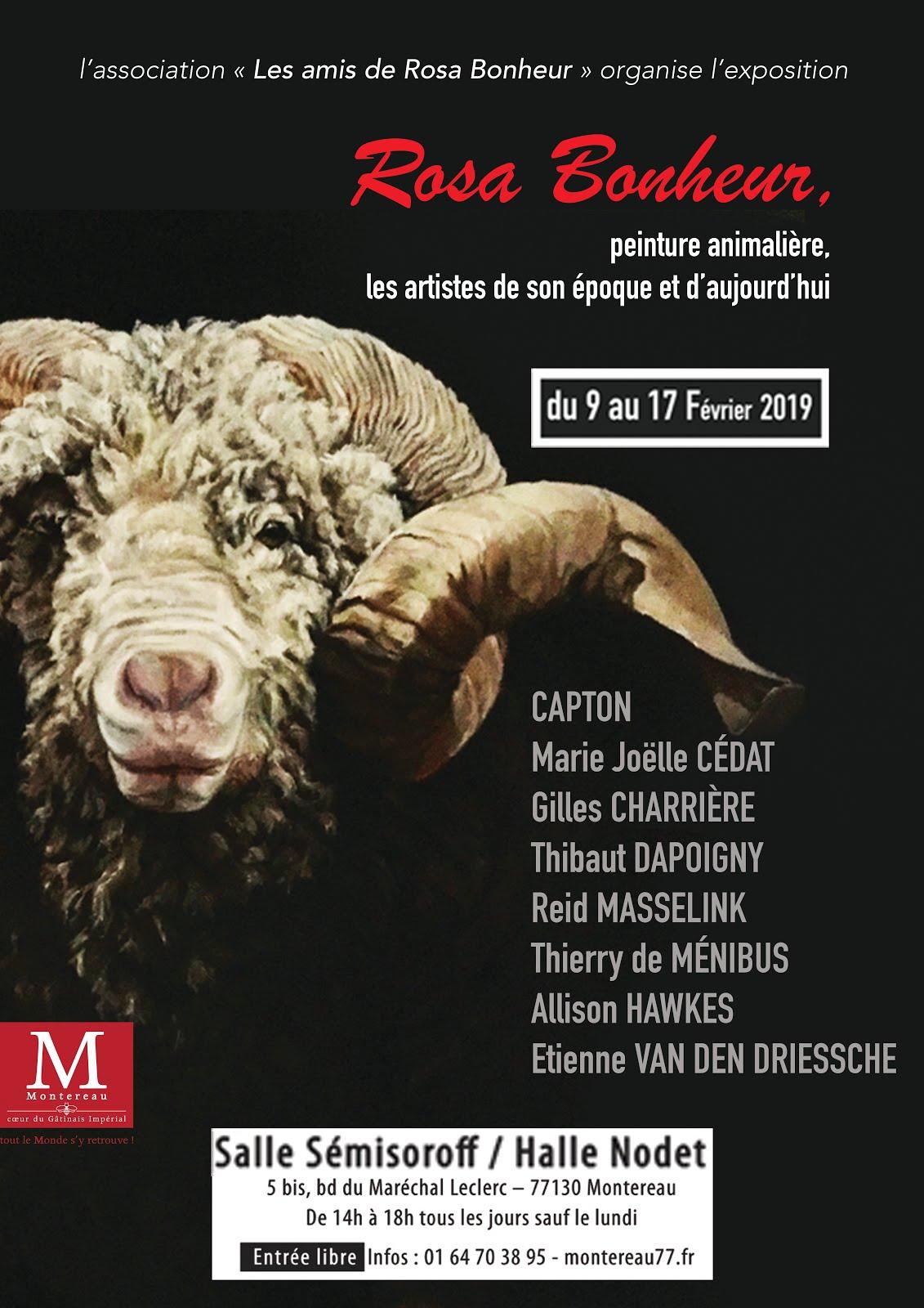 MONTEREAU FAULT-YONNE : 8 ARTISTES CONTEMPORAINS AUTOUR DE ROSA BONHEUR