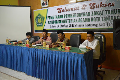 Kakankemenag Tanjungbalai Buka Kegiatan Pemberdayaan Zakat