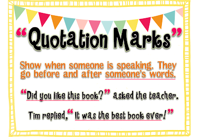 Q1 Quotation Marks And Commas - Lessons - Tes Teach