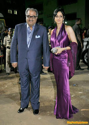 Sridevi and Boney kapoor arrive for the Filmfare Awards at Yash Raj Studio Mumbai_FilmyFun.blogspot.com