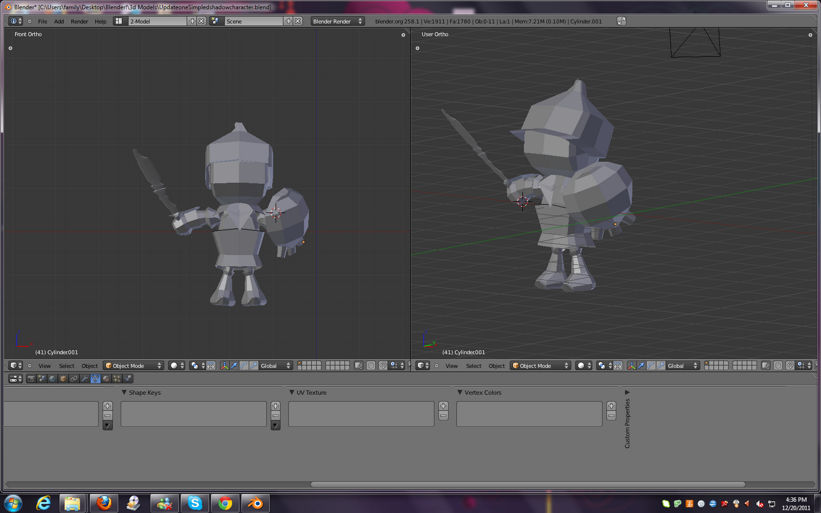 Game Character Modeling In Blender : Samer khatib s dev snowconesolid early d modeling