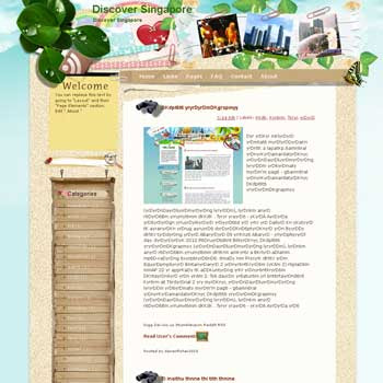 Discover Singapore Blogger Template. free download template blogspot