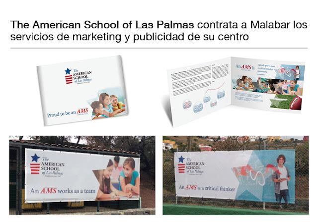 The American School of Las Palmas contrata a  Malabar los servicios de marketing y publicidad de su Centro.