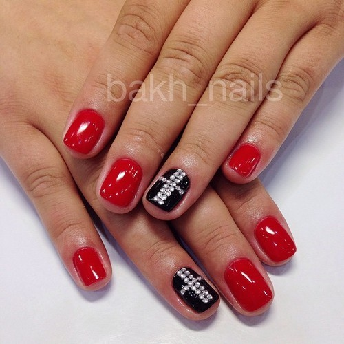 Uñas decoradas de rojo 2016   decoraciones 2018