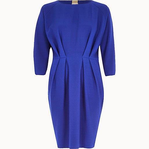 http://www.riverisland.com/women/dresses/day--t-shirt-dresses/Blue-waisted-34-sleeve-dress-666574