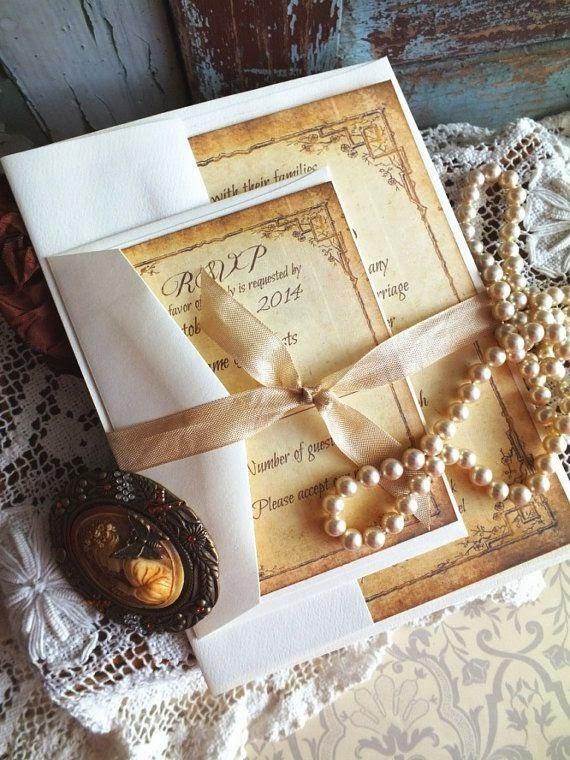 Покана за Сватба Винтидж