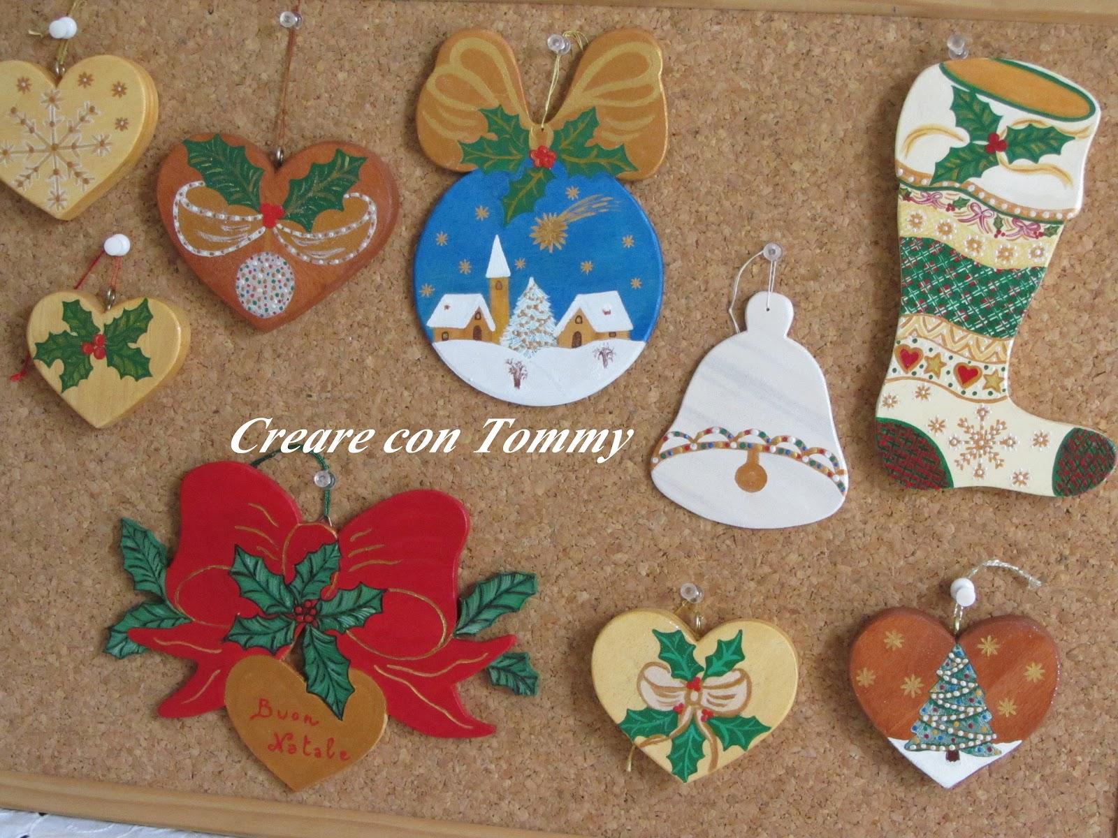 Decorazioni In Legno Natalizie : Creare con tommy natale decorazioni natalizie in legno