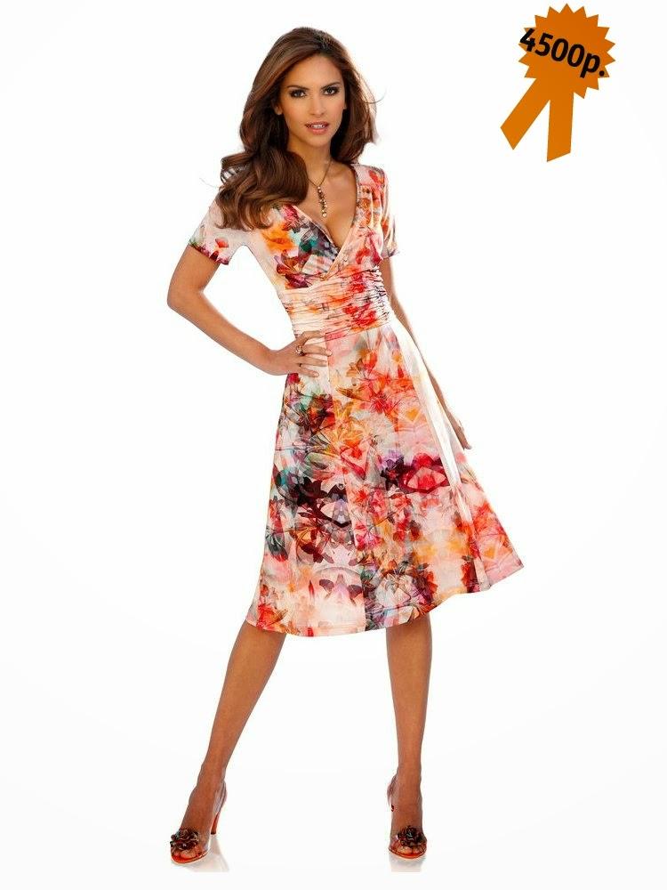 Легкое платье Ashley Brooke с цветочным принтом от Heine