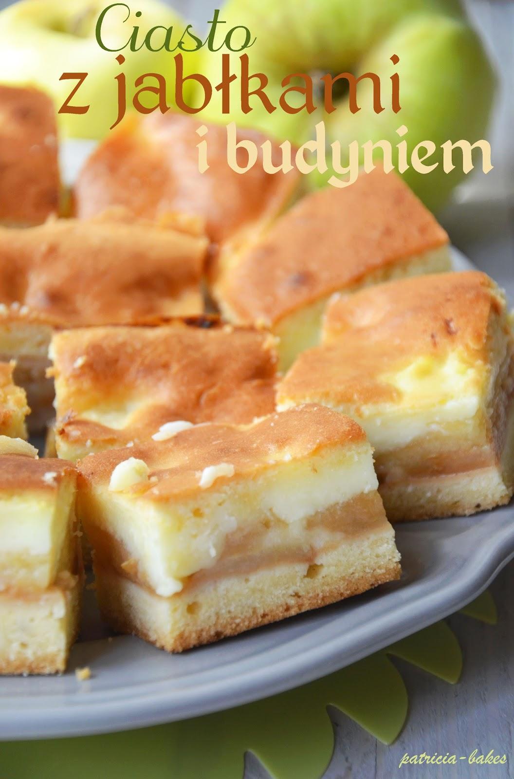 Ciasto Ucierane z Budyniem i Jabłkami Ciasto z Jabłkami i Budyniem