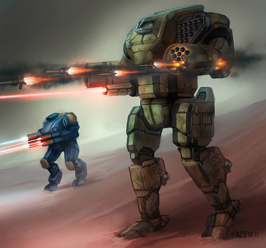 Mech Warrior - Orion por Shimmering-Sword