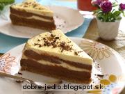 Dvojfarebná tvarohová torta - recept
