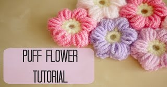 Crochet Flower Step By Step Tutorial : CROCHET: How to crochet a puff flower Bella Coco - Step ...