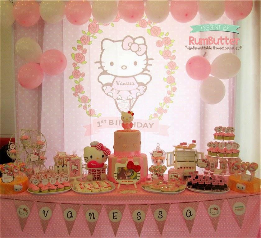 Rumbutter Sweet Corner Dessert Table Vanessas 1st Birthday Sweet