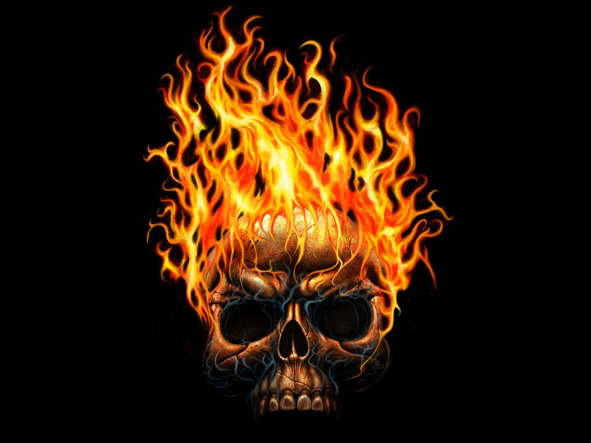 Flaming skulls wallpaper   Free Wallpapers