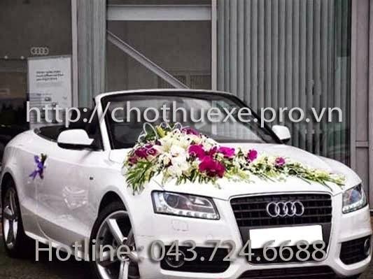 Cho thuê xe cưới mui trần Audi A5 màu trắng