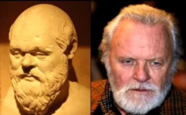 Parecidos razonables: Sócrates y Anthony Hopkins.