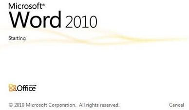 Office 2010 Splash Screen picture