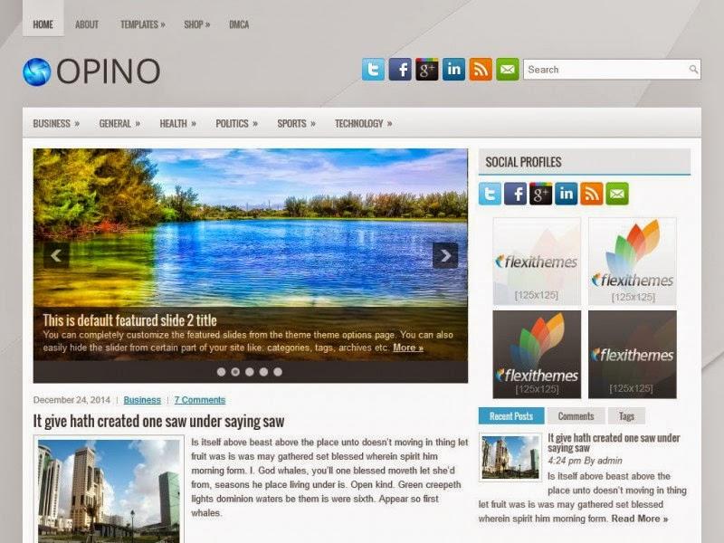 Opino - Free Wordpress Theme