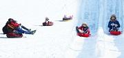 เล่นเลื่อนหิมะที่ Children's Center Sledding Hill