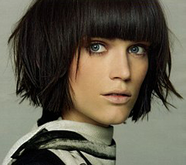 short hair with bangs pictures