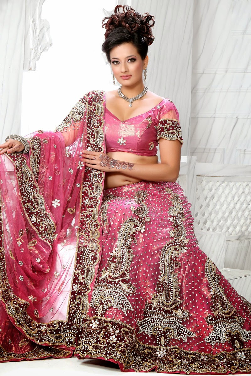 TOP TEN FASHION ONE: INDIAN BRIDAL WEDDING HOT PINK LEHENGA