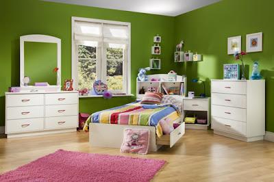 habitación niño color verde