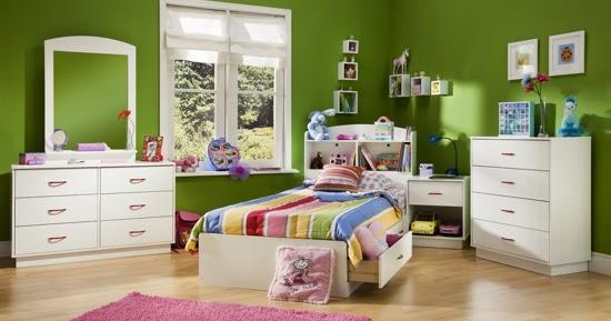 Dormitorios para ni os color verde dormitorios con estilo - Dormitorio verde ...