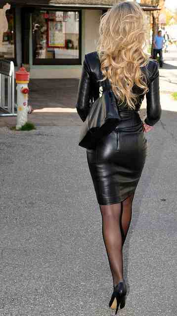 Hot women bent over in leather