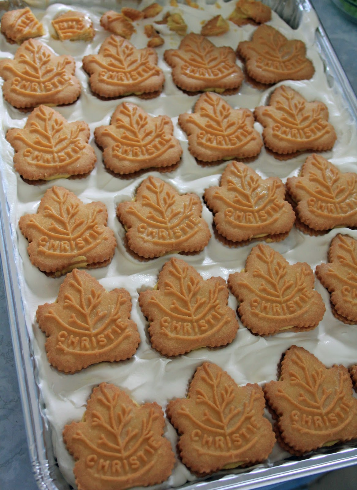 Jo and Sue: No Bake Maple Cookie Dessert