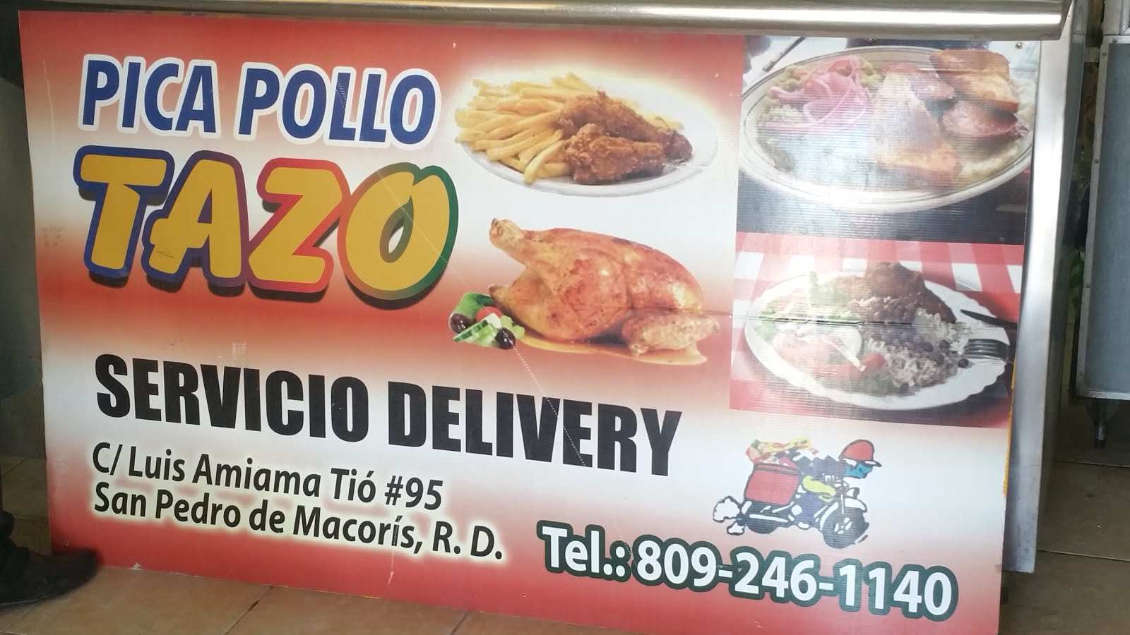 Pica Pollo Y Comedor Tazo. llamar. al 809-246--1140