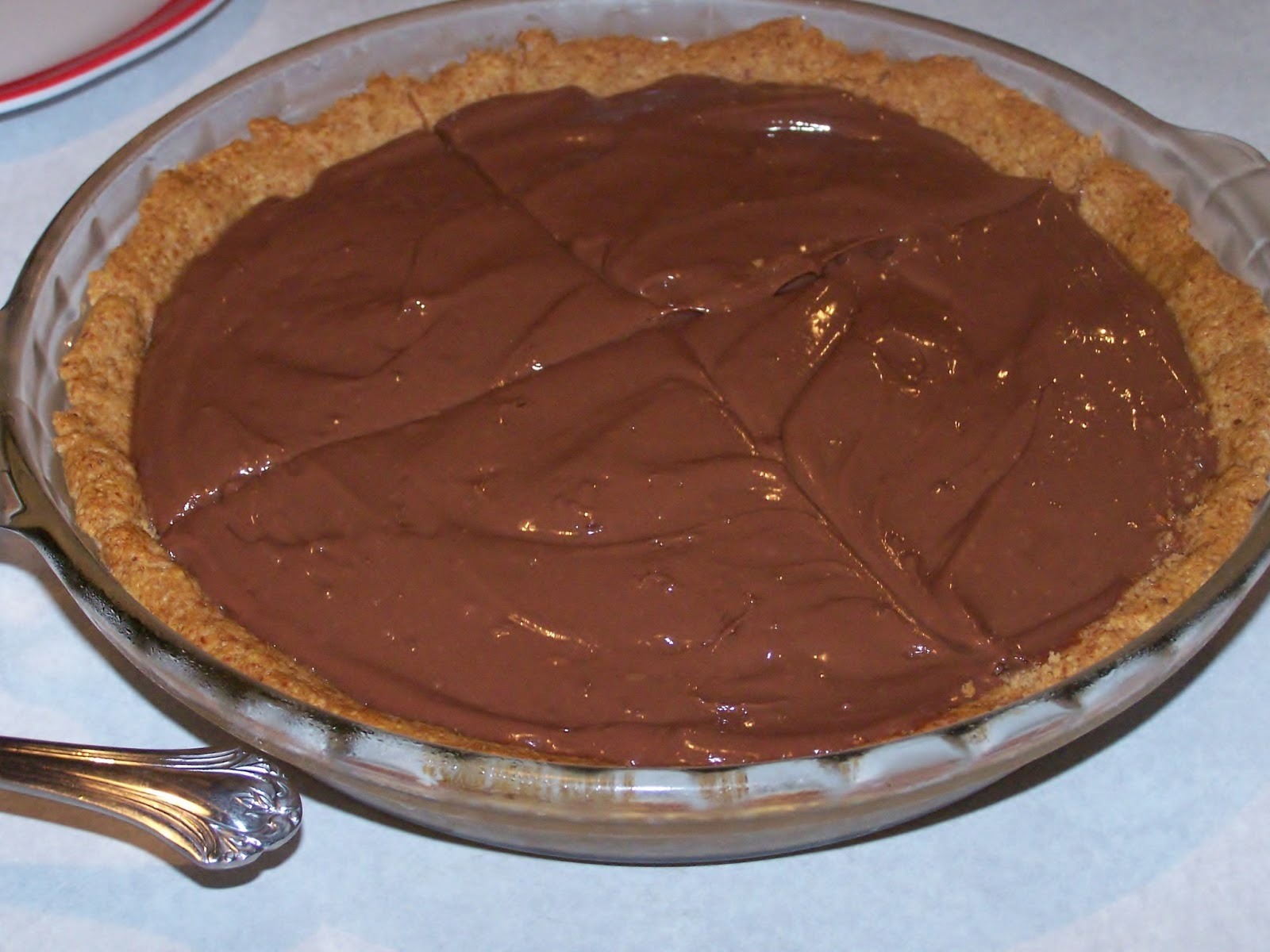 "Homemade Gluten Free ""Instant"" Chocolate Pudding Pie, low glycemic,..."