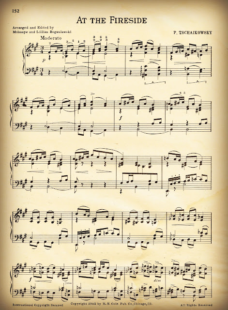Royalty Free Printable Christmas Sheet Music via Knick of Time