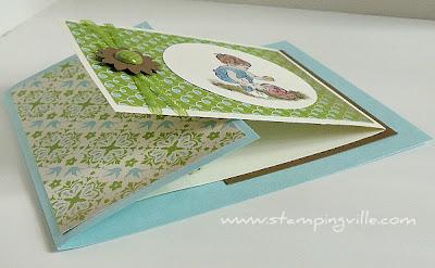 Handmade Greeting Card Unique Fold