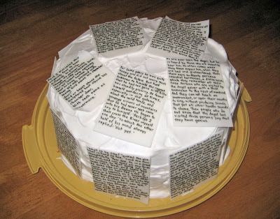Classic Book Pages Cake 4