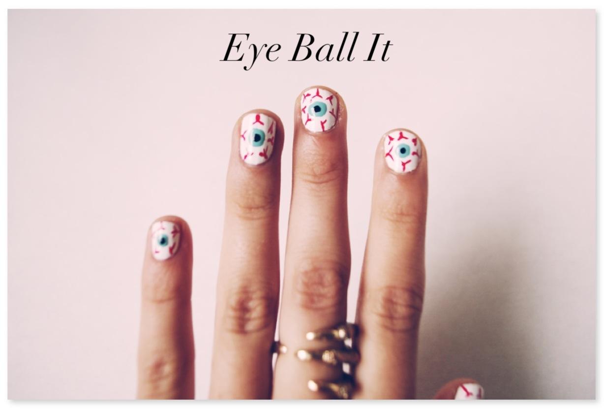 Friday Fingers // D.I.Y eyeball nails   Shakeshakee