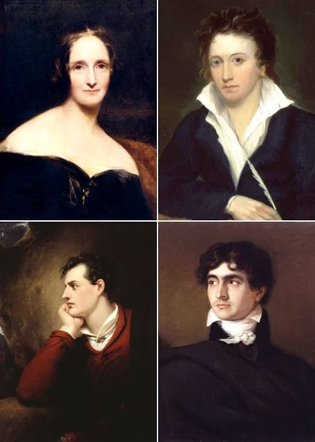 Mary and Percy Shelley, Byron, Polidori
