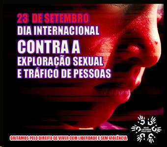NÃO à Exploração Sexual e Tráfico de Pessoas