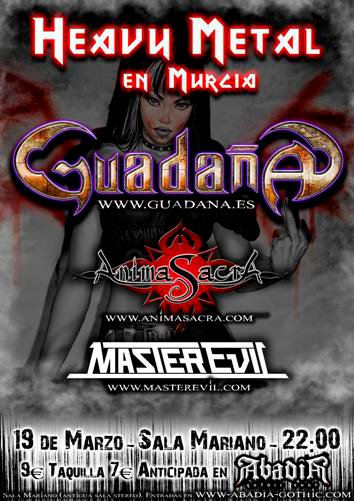 HEAVY METAL EN MURCIA. GUADAÑA (ex-Huma) + ANIMA SACRA + MASTER EVIL 180683_10150144590574258_746594257_8089478_6996478_n