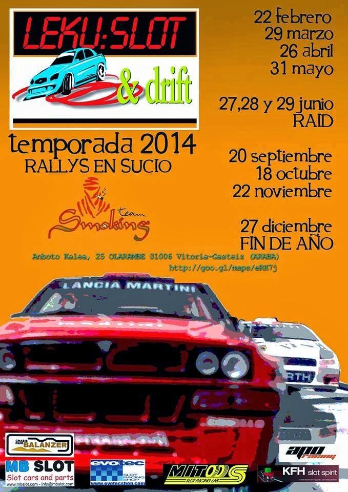 calendario New Leku Slot&Drift 2014