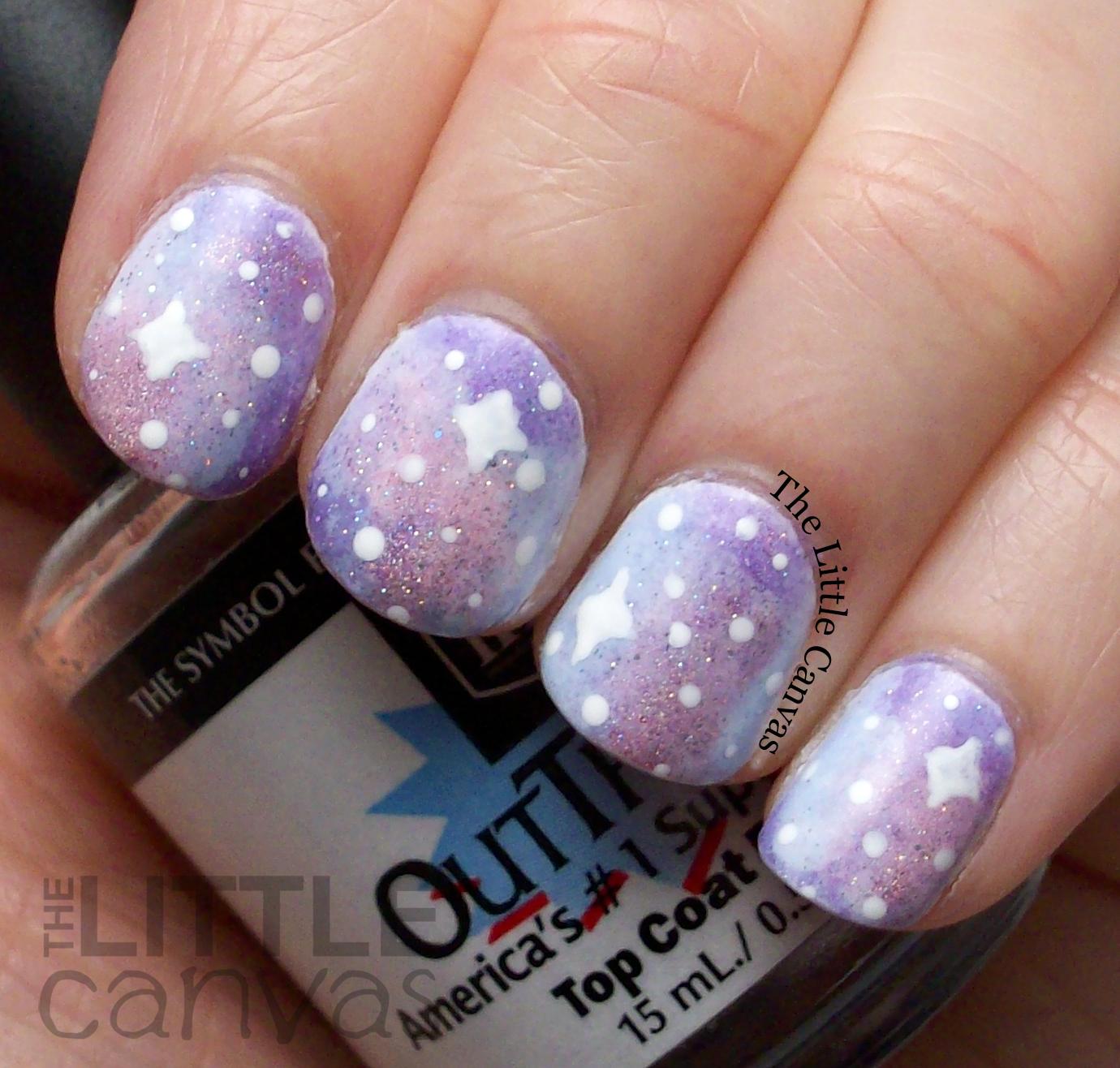 how to make galaxy nail polish