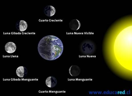 Horario Fases lunares enero