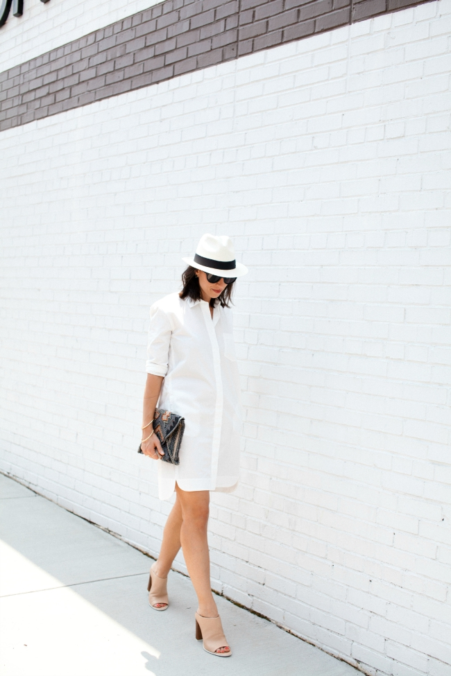 summer style series, shirt dress, madewell shirt dress