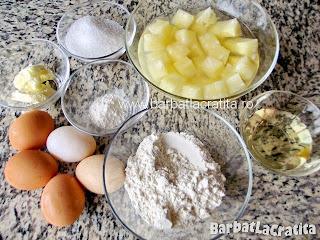 Prajitura cu ananas ingrediente reteta